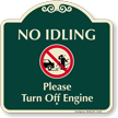 No Idling, Turn Off Engine Signature Sign