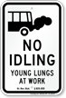 State Idle Sign for School Zones Only, Oregon