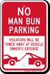 No Man Bun Funny Parking Sign