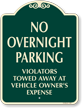 No Overnight Parking SignatureSign