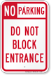 Parking Not Allowed Sign