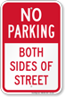 No Parking Both Sides Of Street Sign