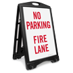 No Parking, Fire Lane Sidewalk Sign