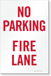 No Parking, Fire Lane Sign Insert