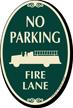 No Parking, Fire Lane Signature Sign