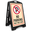 No Parking Past This Sign Sidewalk Sign