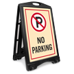 No Parking A-Frame Portable Sidewalk Sign Kit