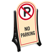No Parking Portable A-Frame Sidewalk Sign Kit
