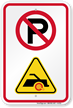 No Parking Unauthorized Vehicles Booted Symbol Sign