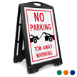 No Parking Tow Away BigBoss Portable Custom Sidewalk Sign