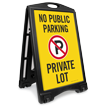 No Public Parking Private Lot Sidewalk Sign