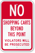 No Shopping Carts Beyond This Point Sign