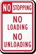 No Stopping No Loading No Unloading Sign