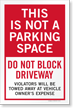 Not a Parking Space Sidewalk Sign Insert