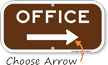 Office With Right Arrow Supplemental Parking Sign