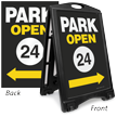 Park Open 24 2-Sided Portable Sidewalk Sign Kit