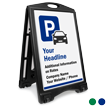 Parking BigBoss Portable Custom Sidewalk Sign