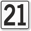 Parking Lot Number Sign
