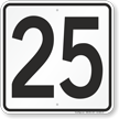 Parking Lot Number 25 Sign