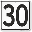 Parking Lot Number 30 Sign