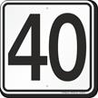 Parking Lot Number 40 Sign
