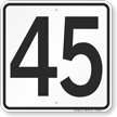 Parking Lot Number Sign