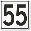 Parking Lot Number 55 Sign