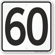 Parking Lot Number 60 Sign