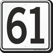 Parking Lot Number 61 Sign