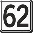 Parking Lot Number 62 Sign