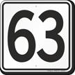 Parking Lot Number 63 Sign