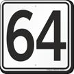 Parking Lot Number 64 Sign