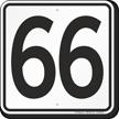 Parking Lot Number 66 Sign
