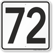 Parking Lot Number 72 Sign