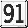 Parking Lot Number 91 Sign