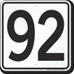 Parking Lot Number 92 Sign