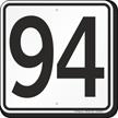 Parking Lot Number 94 Sign