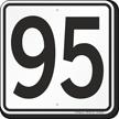 Parking Lot Number 95 Sign