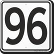 Parking Lot Number 96 Sign