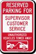 Novelty Parking Lot Sign