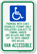Oregon Parking With D.M.V. Disabled Permit Only Sign