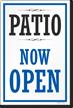 Patio Now Open