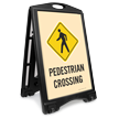 Pedestrian Crossing Portable Sidewalk Sign Kit