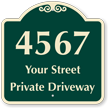 Personalized Private Driveway Signature Sign