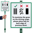Place Ball On Back Edge Golf Course LawnBoss Sign