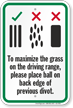 Place Ball On Back Edge Golf Course Sign