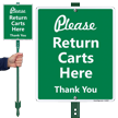 Please Return Carts Here Sign