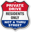Private Driveway Shield Sign