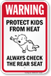 Do Not Leave Children In Hot Car Sign
