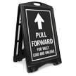 Pull Forward For Valet Sidewalk Sign
